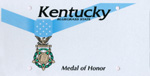 "Kentucky ""Medal of Honor"" license plate"